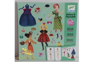 Ubrania modowe zestaw kreatywny z naklejkami Djeco 9691