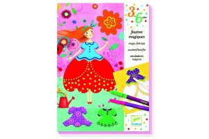 Kolorowanka flamastrami Preety Dresses Djeco 9886